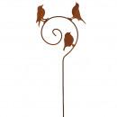 bouchon de métal 'spirale' oiseau, 3 oisea